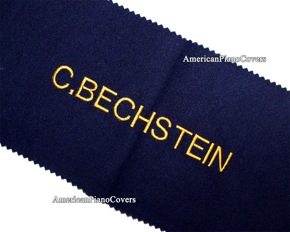 Bechstein blue keyboard Cover