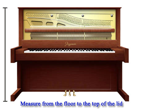 how to measure your upright piano