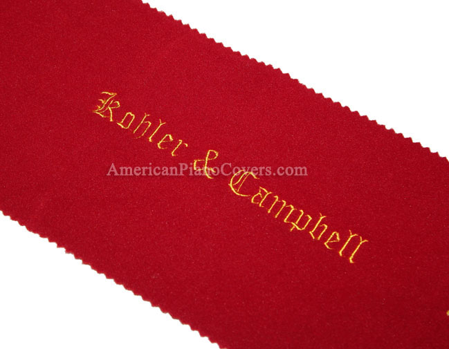 Kohler and Campbell felt piano key cover