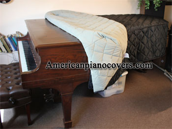 2 Items Estonia Piano Cover Model 168 56 Custom Made Grand Piano Protective Cover Grand Piano Cover Bundle with L/&L Design Piano-Table Topper