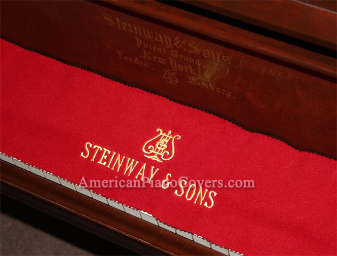 steinway piano key cover