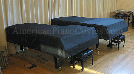 two vinyl grand piano covers